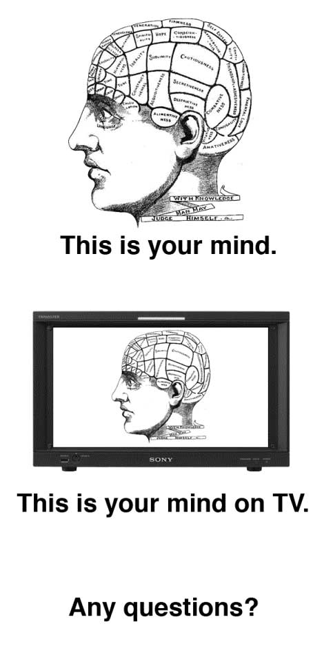 This is your mind on TV.